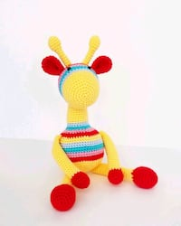yellow and green knitted plush toy Toronto