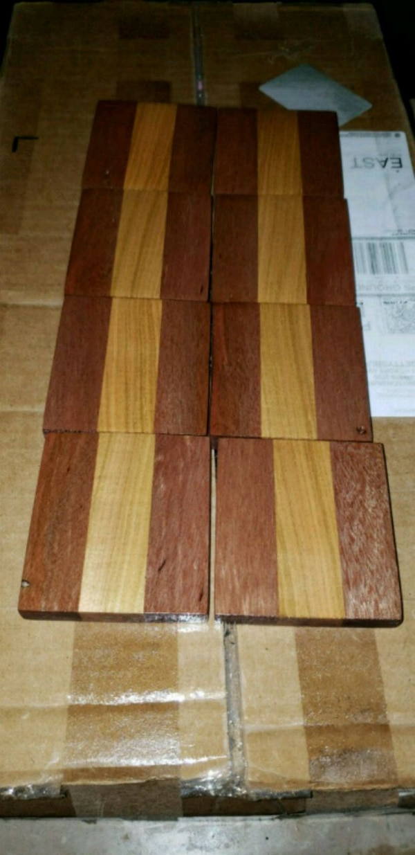 Mahogany maple coasters