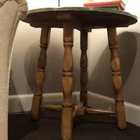 brown wooden side table with drawer North Easton, 02356