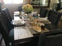 ELTE Dining table with 8 tufted chairs Toronto, M2M 2J3