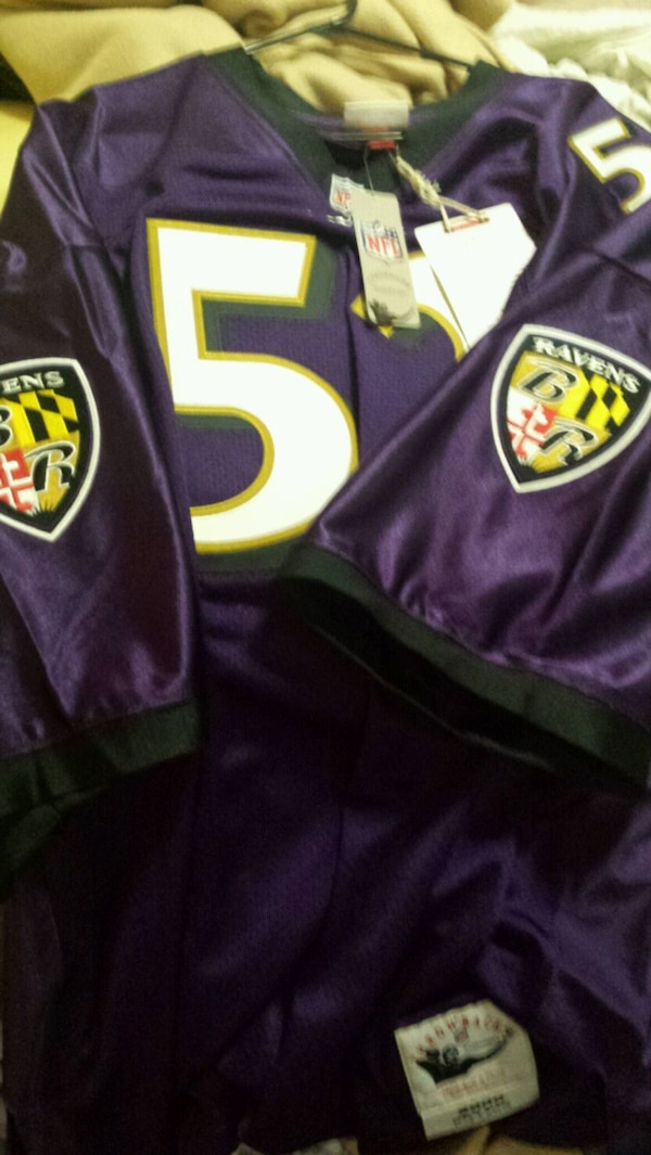 new style 31506 3b225 Authentic Mitchell and Ness Ray Lewis jersey