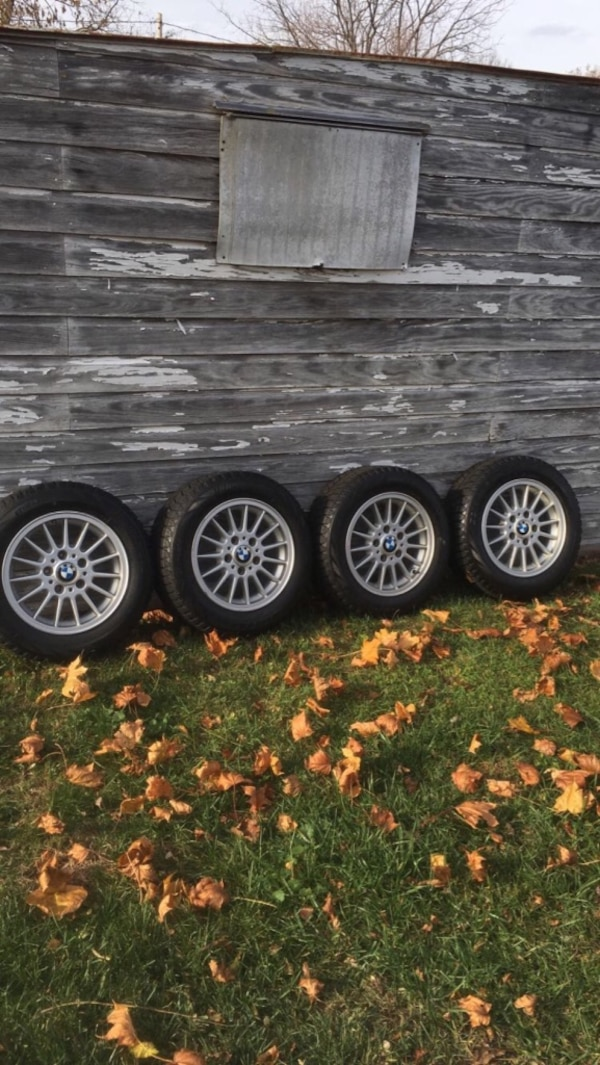 BMW wheels with winter tires. Rims are in great shape, tires are brand new