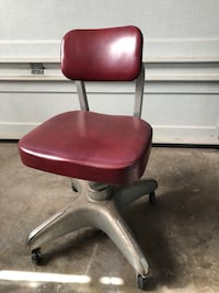 VINTAGE INDUSTRIAL COLE STEEL OFFICE CHAIR Mid Century Modern Steampunk MCM Ashburn, 20147