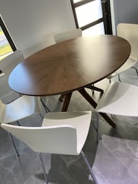 Modern dining table with 6 white chairs Marco Island, 34145
