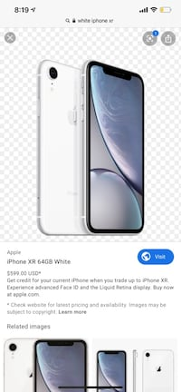WHITE IPHONE XR. BRAND NEW  Toronto, M6A 2T9