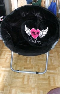 foldable chair comes with a heart mom's rules pillow $40.