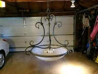 Wrought iron domed glass chandelier  Wheaton, 60189