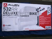 Delux three bike hitch mounted carrier