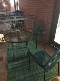 Patio furniture set with rug