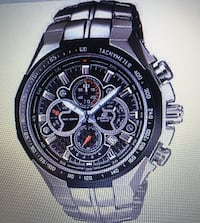 CASIO EDIFICE 5168--- STAINLESS STEEL- WATER RESISTANT Placentia