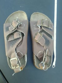 pair of gray leather sandals Victoria, V8W 2G5