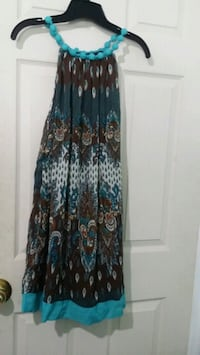 women's black and blue floral sleeveless dress Mississauga, L4T 3T3