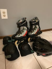 Roller blades, helmet and elbow & knee pads West Long Branch, 07764
