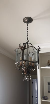 black metal framed uplight chandelier Louisville, 40241