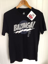 BIG BANG THEORY Black T-Shirt Top - Adult Size M  - NEW WITH TAGS!!
