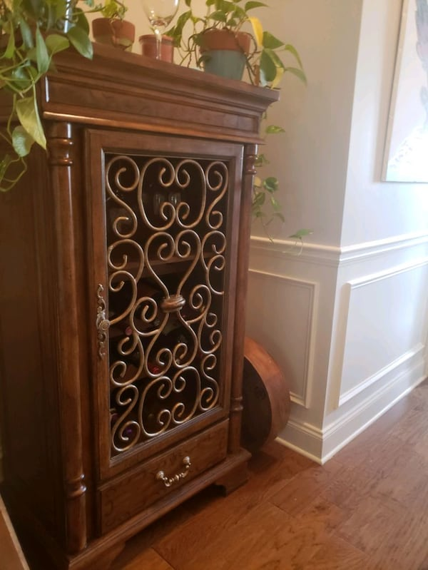Used Broyhill Wine Cabinet For In