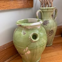 3 Oversized Mint Green Decorative Vases  CHICAGO