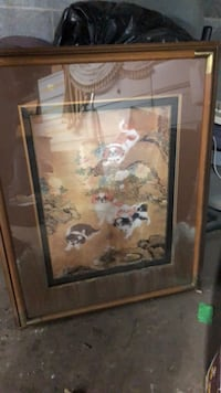 Brown wooden framed painting of flowers Paterson, 07501