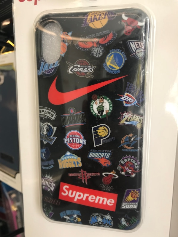 more photos 00449 812eb iPhone X Supreme Case Nike NBA