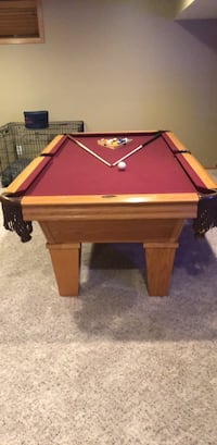brown wooden framed red pool table Johnston, 50131