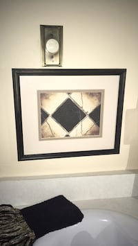 """Wall decor cream & black size 12"""" by 15"""" can be hung both ways Oakville, L6K 1Y8"""