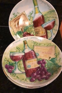 4 side plates- wine & grapes Silver Spring, 20905