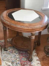 2 Oval wooden side table  North Vancouver, V7L