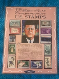 Kennedy us stamps with COA Paterson, 07505