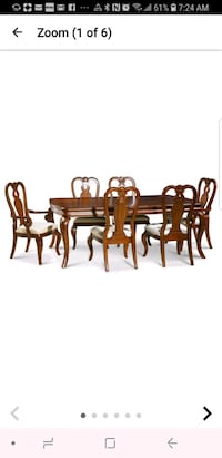 brown wooden dining table set Gaithersburg, 20878