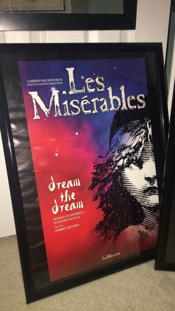 Les Misérables poster (does not include frame)