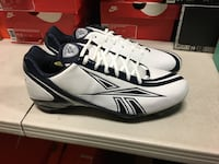 Reebok Men's NFL Equipment football cleats size 13 white/navy shoes  Bountiful, 84010
