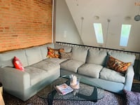 gray fabric sectional sofa with throw pillows Baltimore, 21231