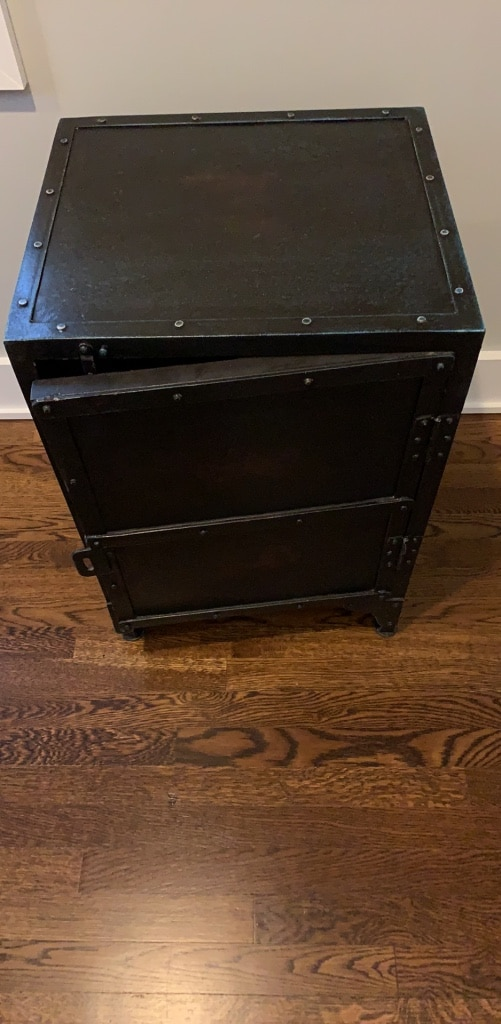 used restoration hardware metal chest side table for sale in new rh gb letgo com