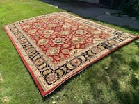 Red and black area rug Centerville, 84014