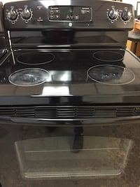 Electric black range glass top black