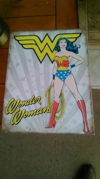 Wonder Woman Metal Sign Roanoke, 24016