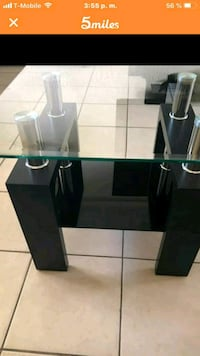 rectangular glass top table with black wooden base Hialeah, 33010