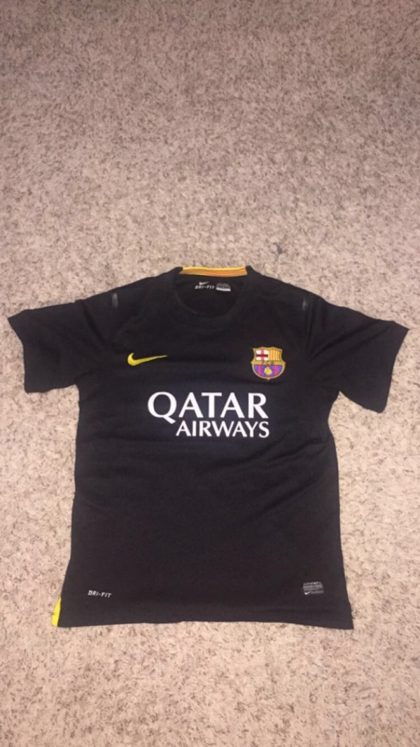586405b61 Used Fc Barcelona Jersey (black) for sale in Chino Hills - letgo