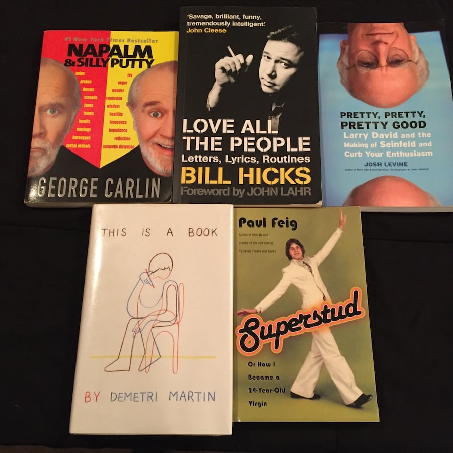 Comedy Book Collection - Lot of 5 Carlin, Hicks, etc. (Pre-Owned)