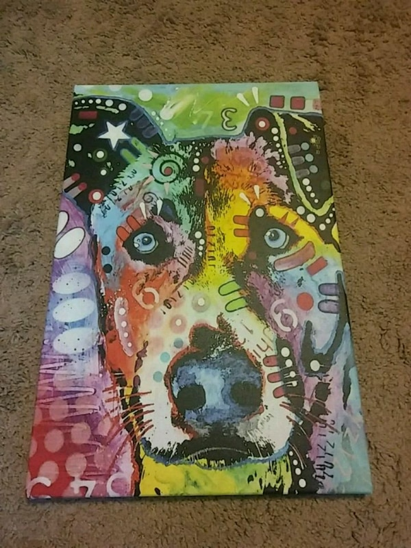 Custom Abstract Dog Art