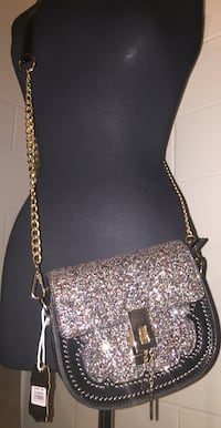 gray and black leather crossbody bag Norcross, 30071