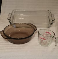 3 Pieces of Glass Bakeware—Pyrex, Anchor Ovenware, and L'Ovenware—EXCELLENT Condition Vienna, 22180