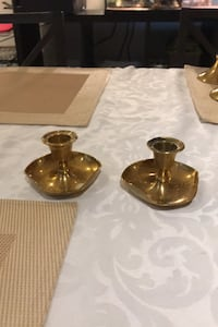 Pair brass candlestick holders Calgary, T2V 3A6
