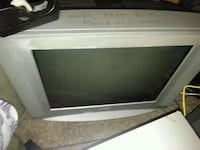 white and black CRT TV Gray, 70359