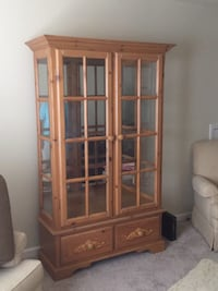 brown wooden display cabinet Grayson, 30017