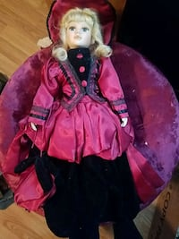 Lady in red China doll