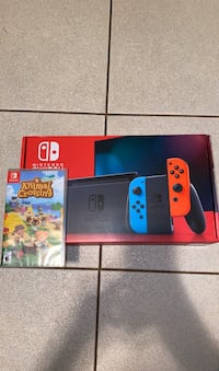 Nintendo Switch Neon red and blue with animal crossing bundle モンテレーパーク, 91755