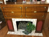 Vintage Fire Place ,Stereo, Bar