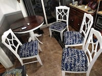 4 chairs with pedestal table. Older set, refinished very strong Welland $450 Welland
