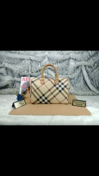 borsa in pelle Burberry marrone e nero Monteviale, 36050